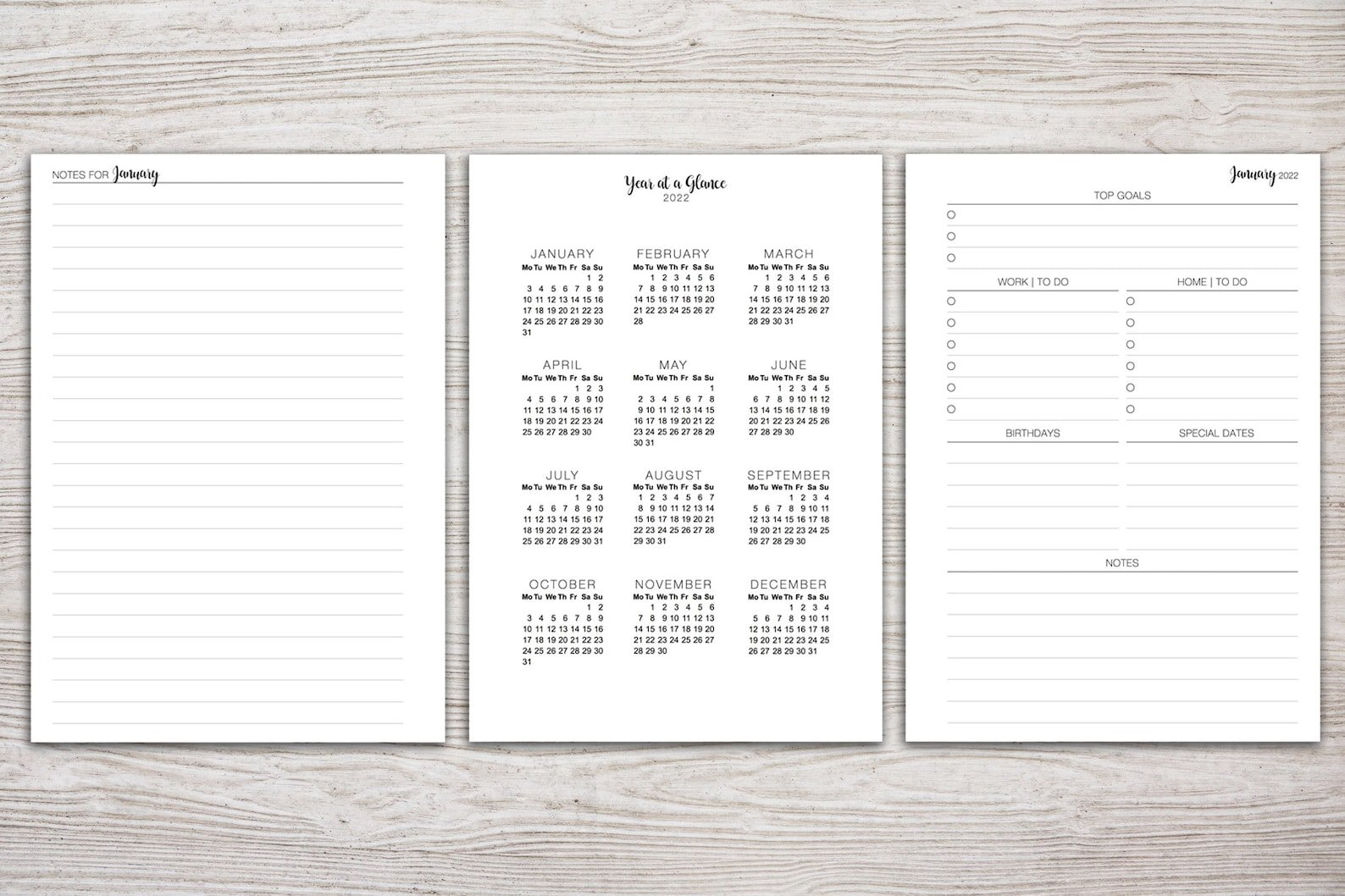 A5 Planner Printable 2022 Monthly Planner Filofax A5 | Etsy for 2022 Planner Printable A5 Diy
