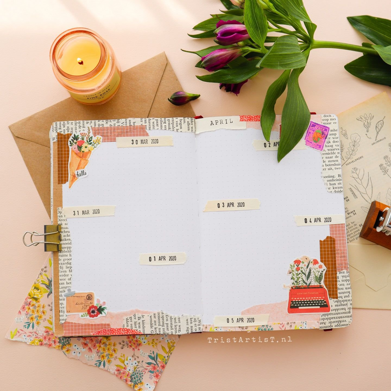 April 2020 Bullet Journal ★ Pen Pal ★ Snail Mail Spring intended for April Bullet Journal Theme
