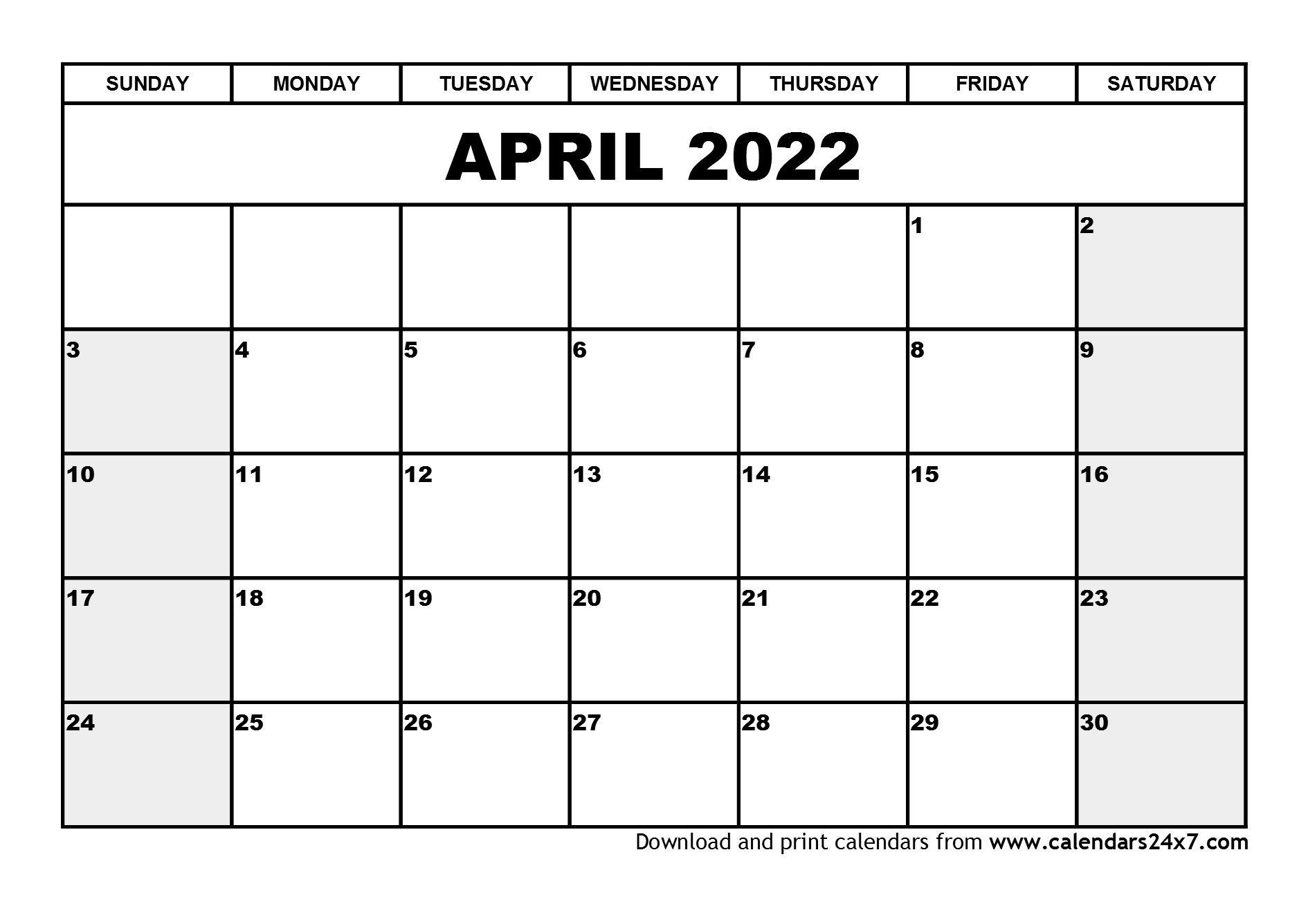 April 2022 Calendar & May 2022 Calendar throughout Printable Calendar April 2022 Free