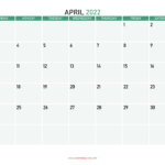April Calendar 2022 Images Graphics