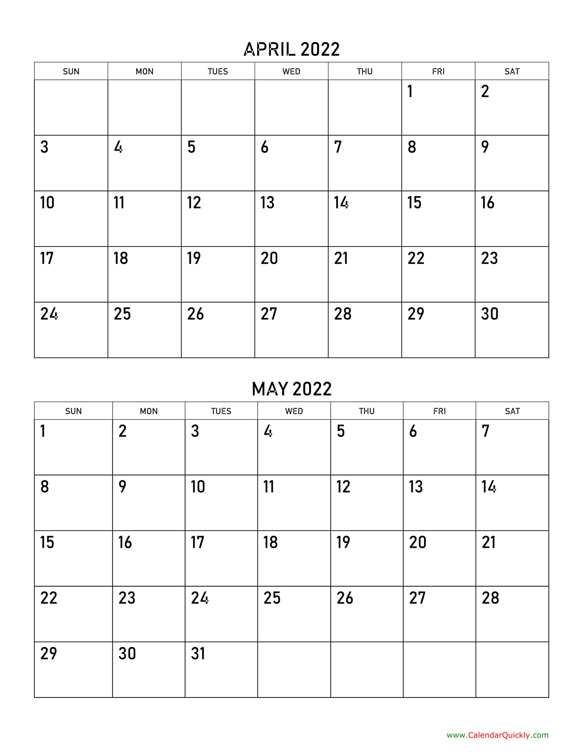 April And May 2022 Calendar   Calendar Quickly within April 2022 Calendar To Print Photo