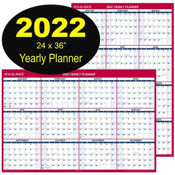 At-A-Glance 2022 Yearly Planner Pm26-28, Dry Erase Wall for 2022 Lifestyle Planner Calendar