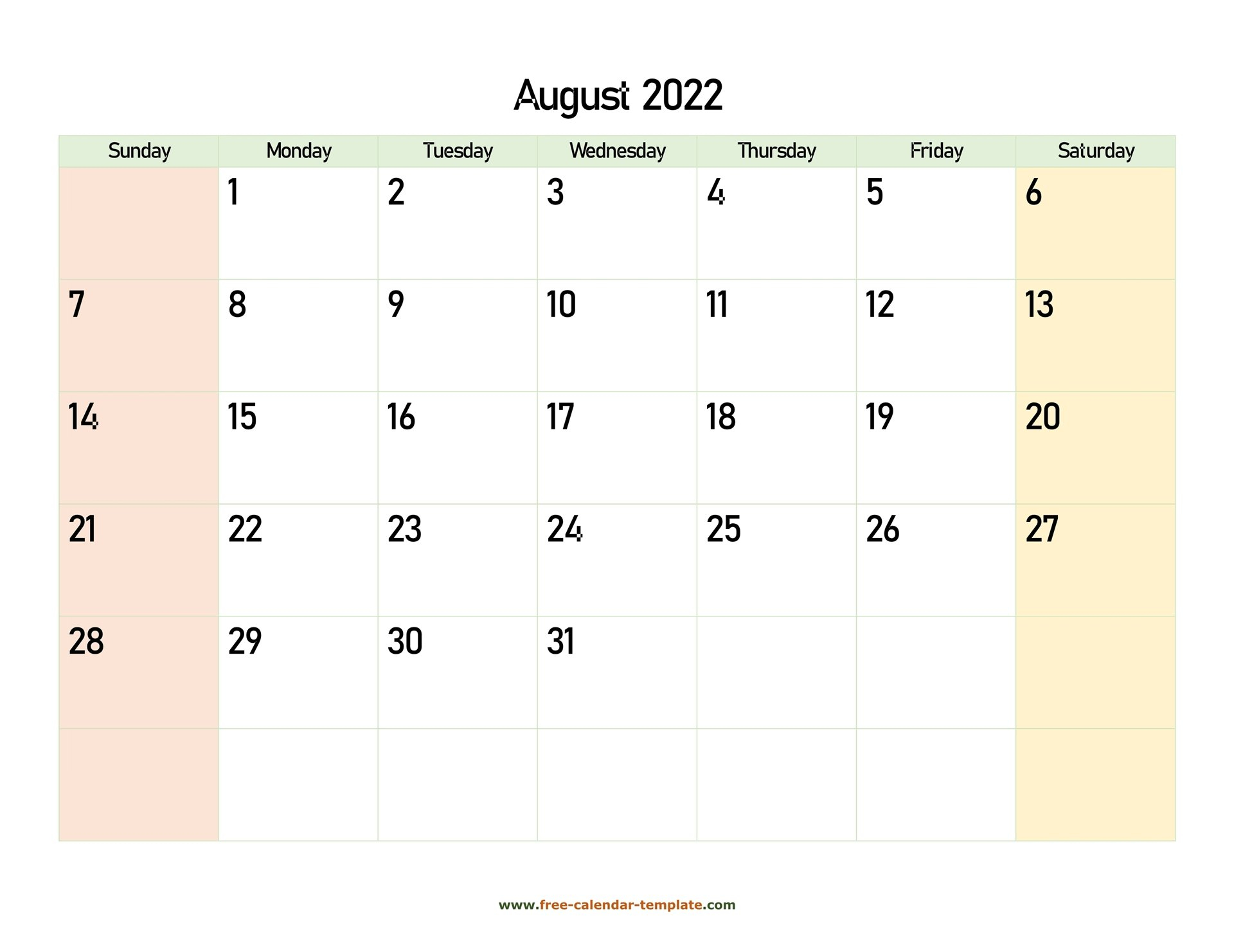 August 2022 Calendar Printable With Coloring On Weekend intended for Printable 2022 August Calendar Photo