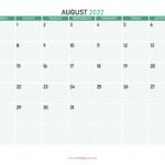 Printable August And September 2022 Calendar Photo