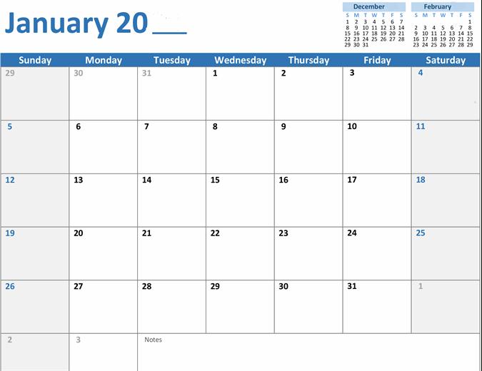 Blank Monthly Calendar Template regarding Blank Month Planner Template
