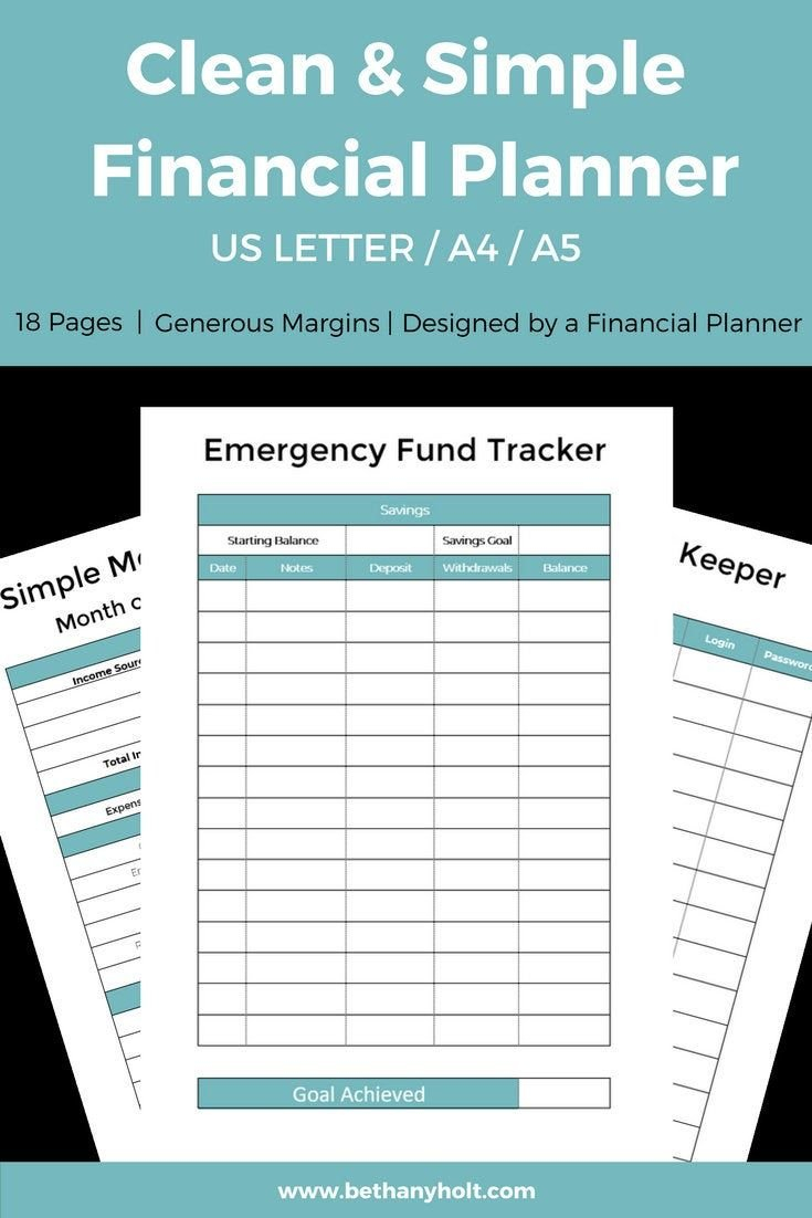 Budget Planner, Finance Printable, Budget, Planner, Simple with Simple Budgeting Planner Insert