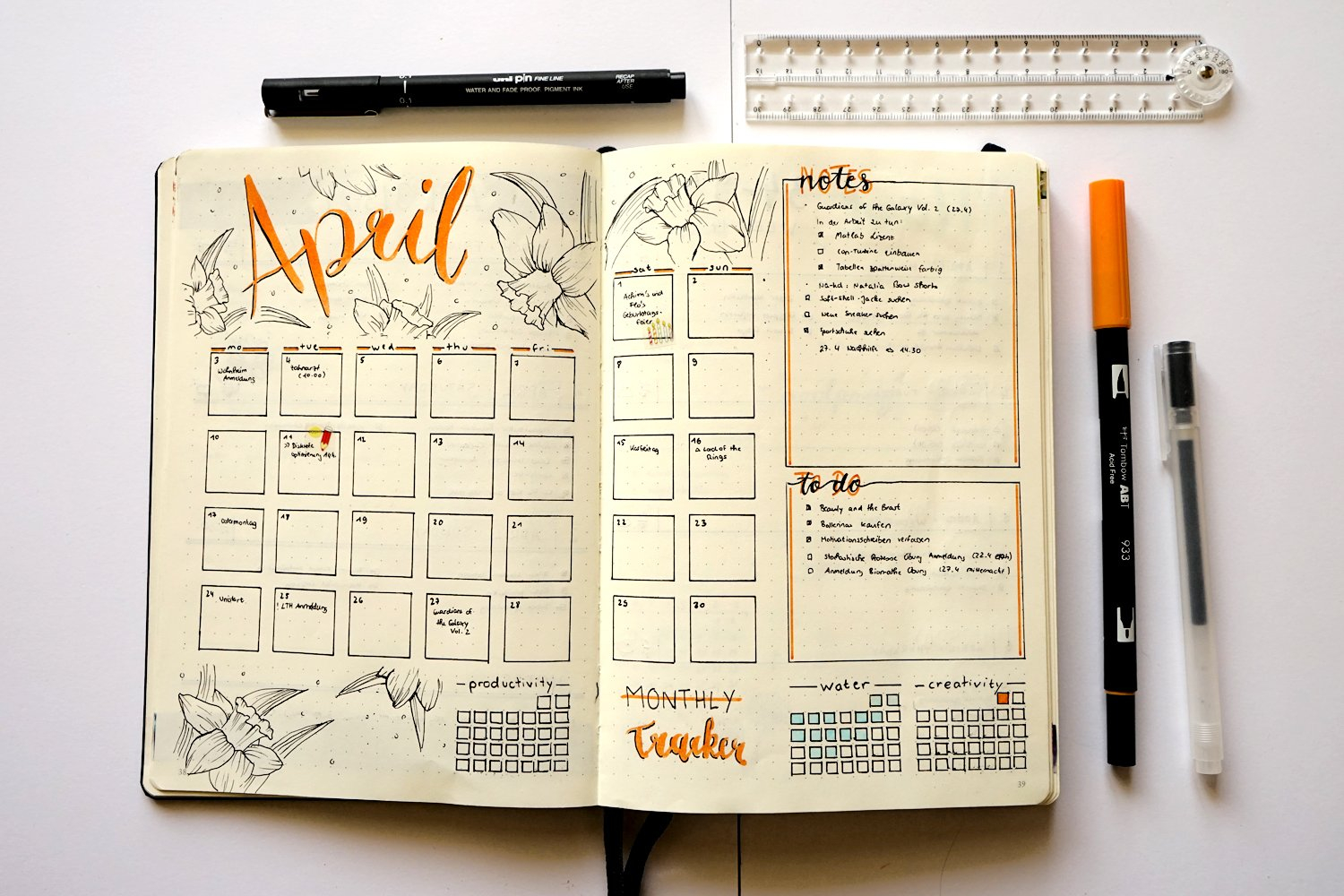 Bullet Journal - April - Lady Extraordinary // Only-Thi with regard to Bullet Journal April Layouts
