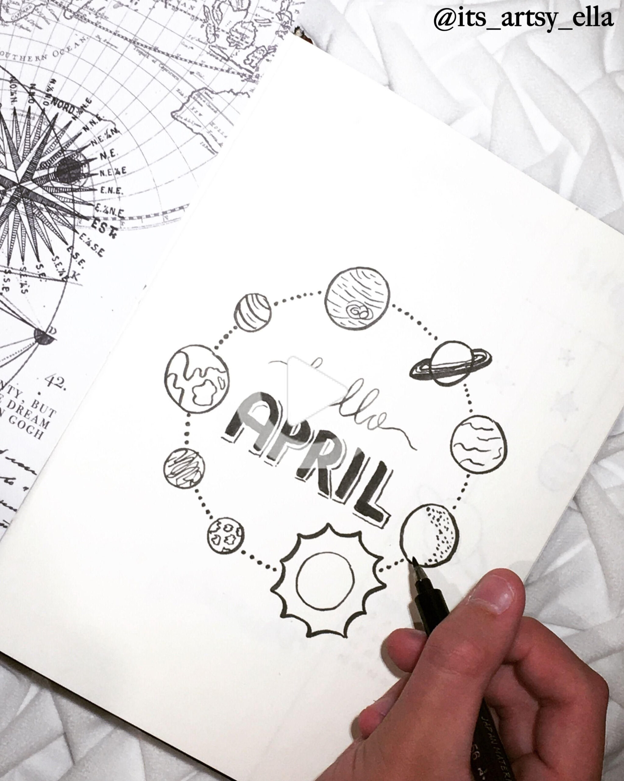 Bullet Journal Monthly April Cover In 2020 | Birthday with regard to April Bullet Journal Theme