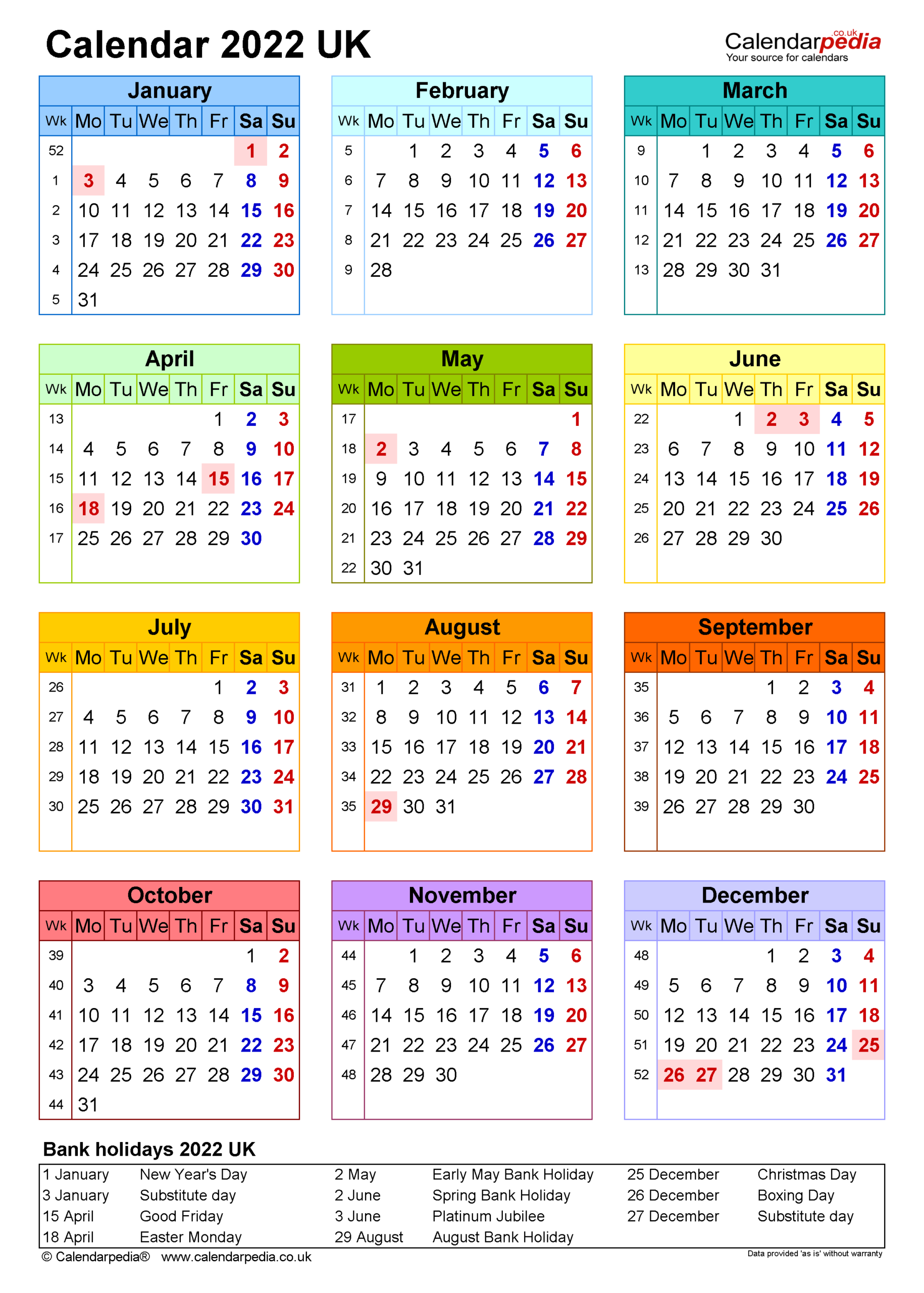 Calendar 2022 (Uk) - Free Printable Pdf Templates with Daily Planner 2022 Template