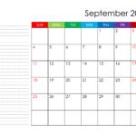 Print Month Calendar September 2022 Image