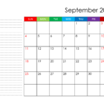 September 2022 Calendar Template Photo