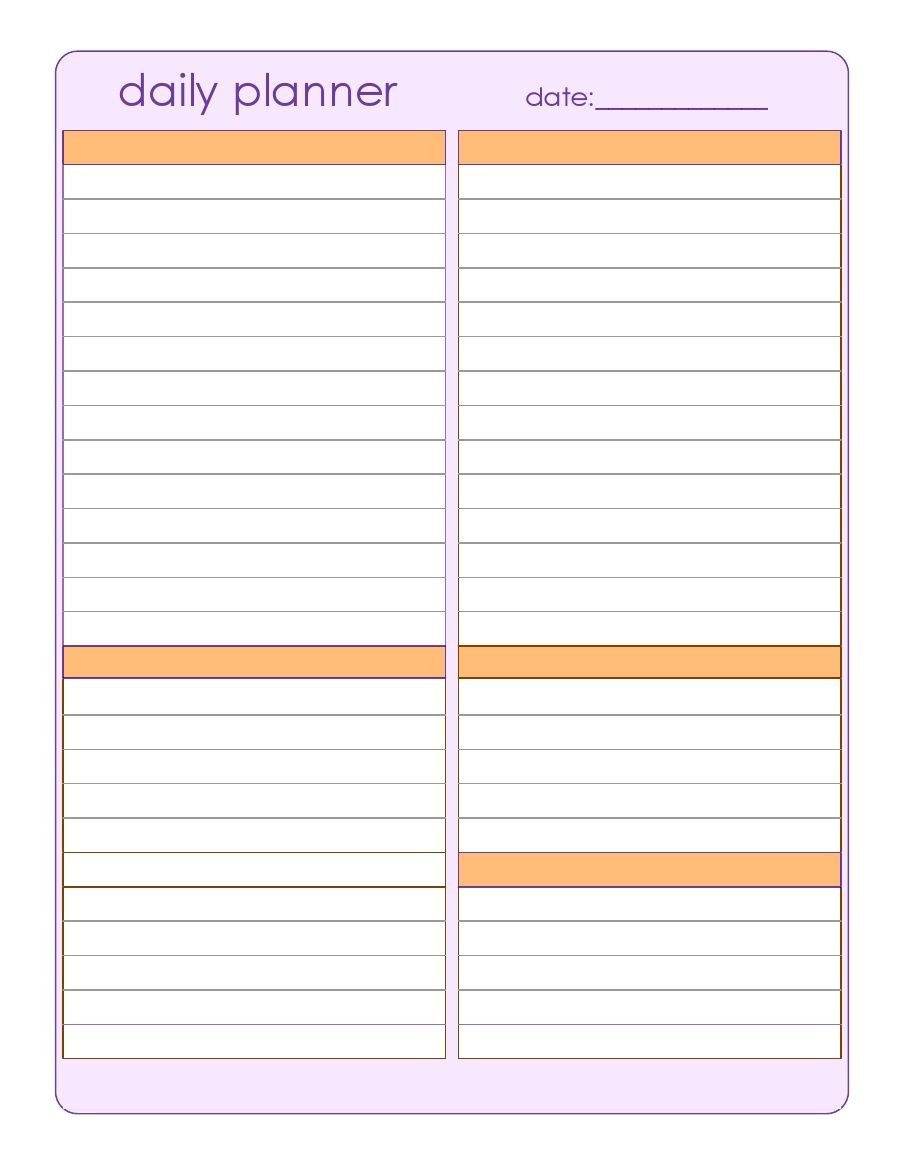 Calendar Planner Daily | Daily Planner Pages, Daily throughout Daily Planner Pages Printable Photo