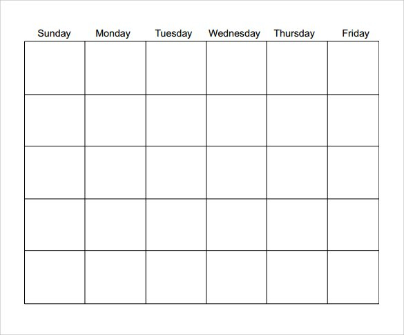 Calendar Template Download - Printable Year Calendar within Blank Month Planner Template Graphics