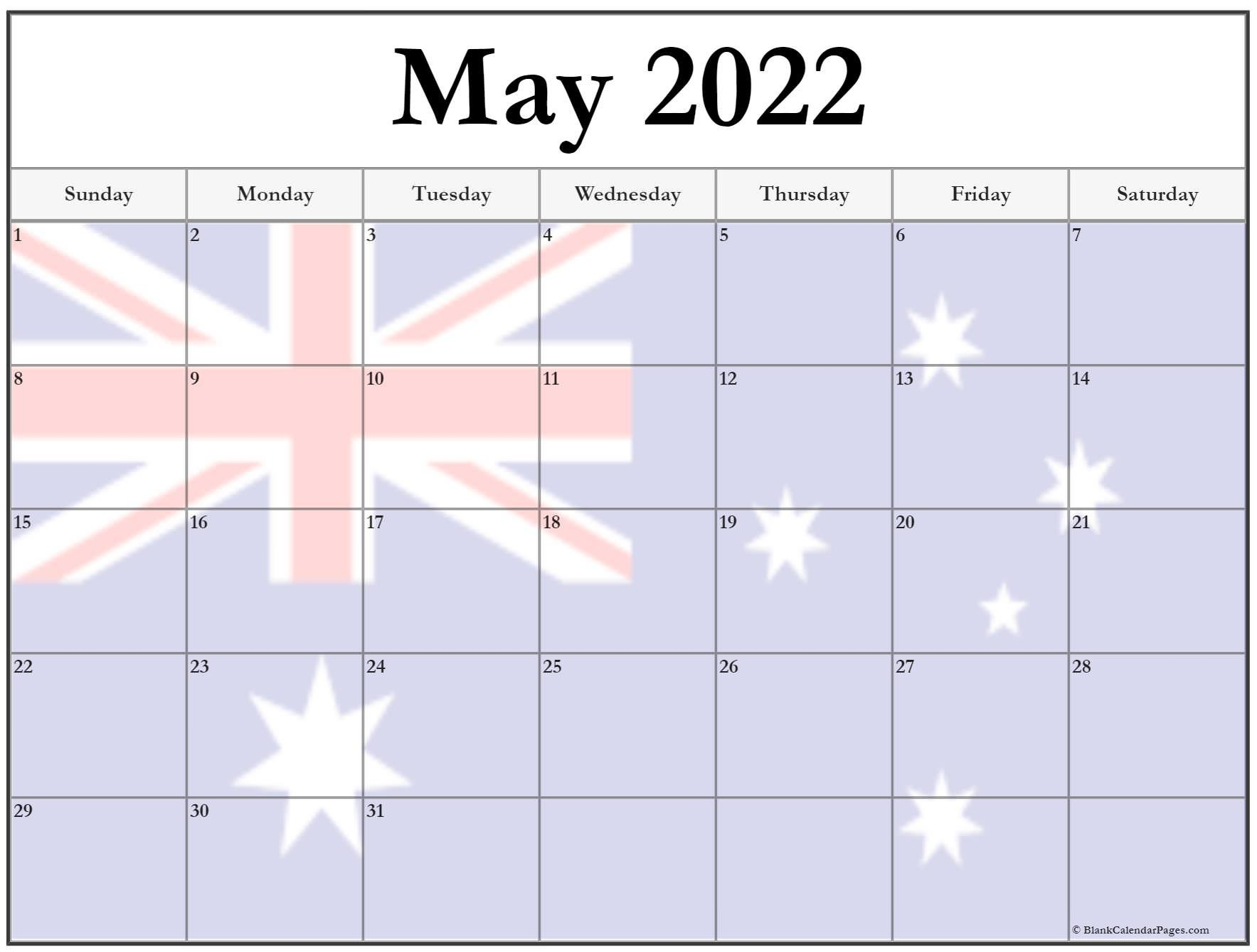 Collection Of May 2022 Photo Calendars With Image Filters. for Printable Calendar May 2022 Photo