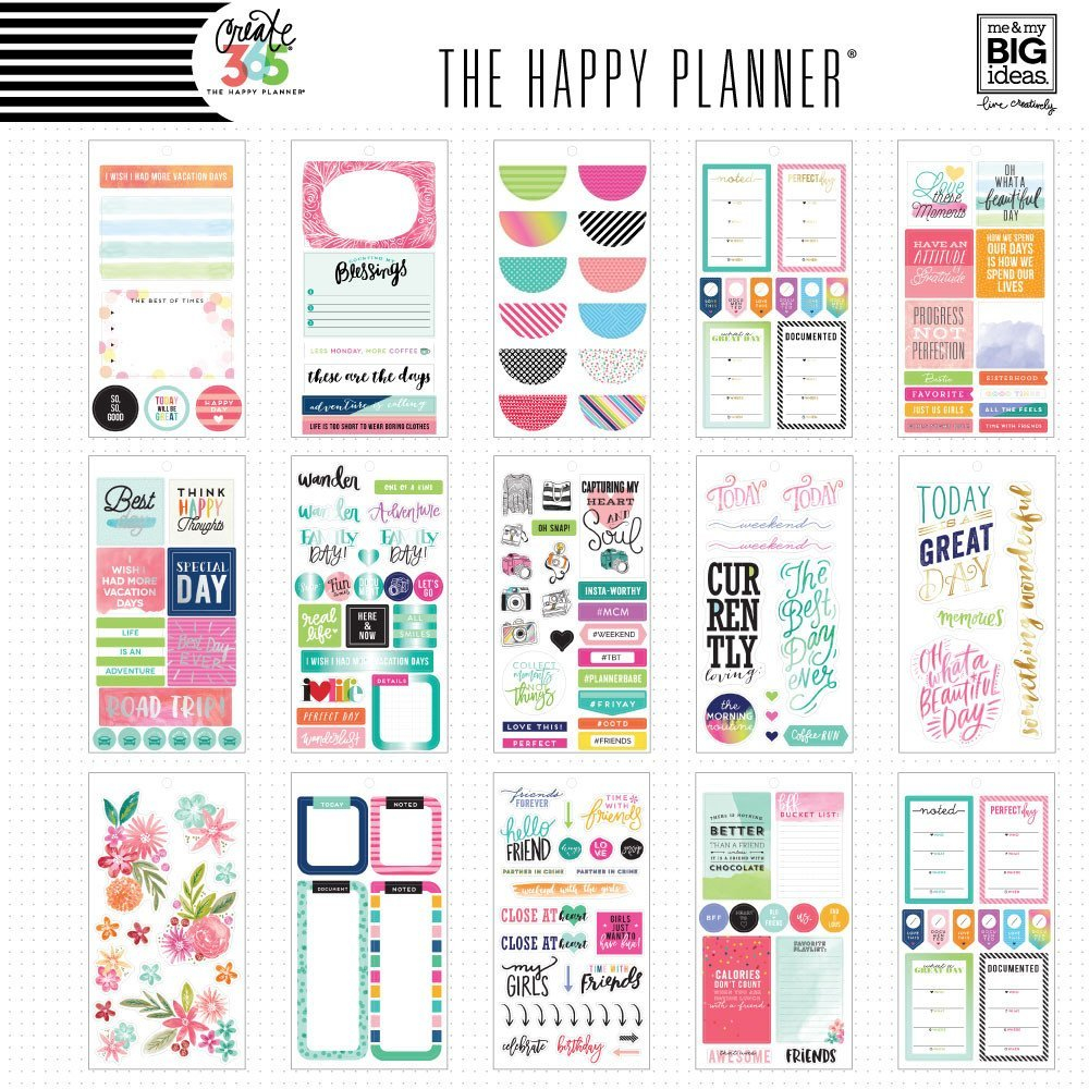 Create 365 The Happy Planner Sticker Value Pack - Memory inside The Happy Planner Journaling Stickers Image