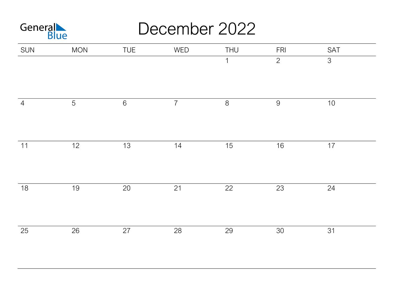 December 2022 Calendar (Pdf Word Excel) in Free Green Printable Daily Planner 2022 Pdf