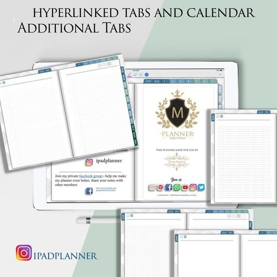 Digital Daily Planner 2021 2022 Goodnotes Notability inside Free Printable Budget Planner 2022