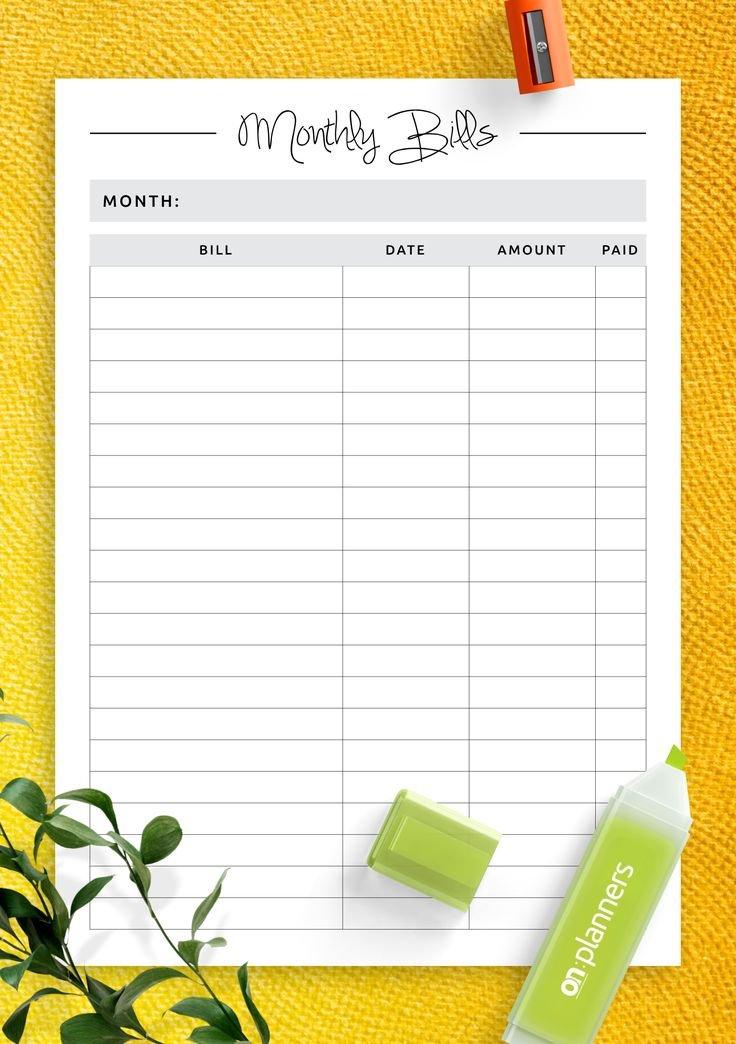 Download Printable Simple Budget Template Pdf | Budget in Budget Planner Pdf Download Free Photo
