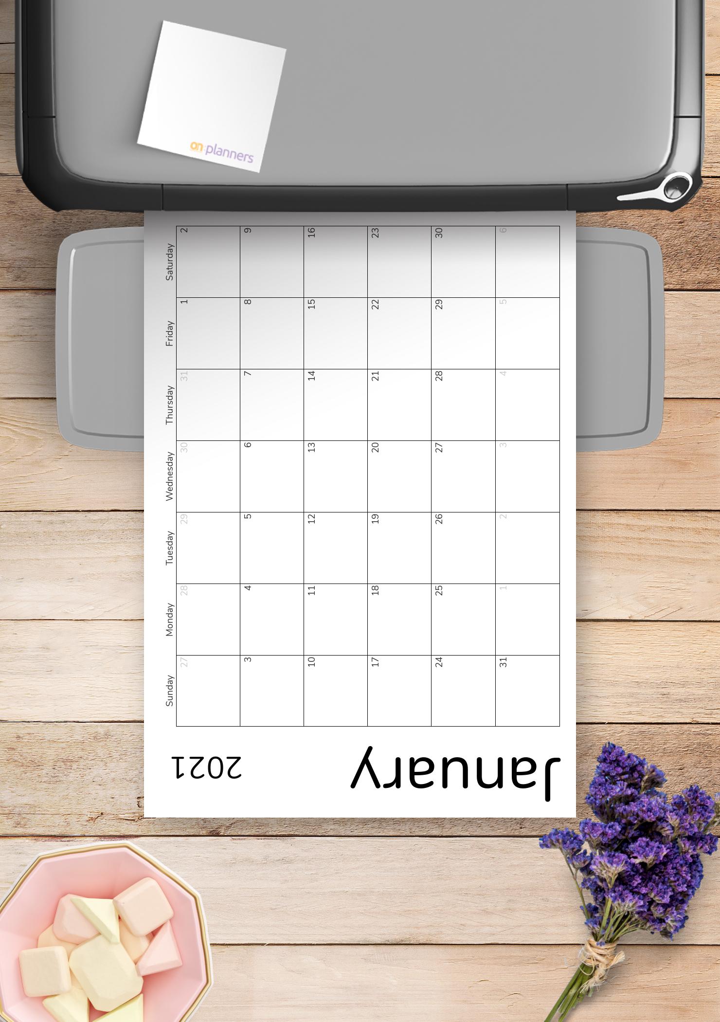 Download Printable Simple Monthly Calendar Grid Pdf throughout Weekly Planner Grid Free Printable Image