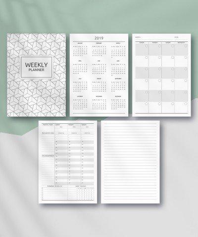 Download Printable Weekly Planner - Original Style with regard to 20 Hours Weekly Planner Printable Graphics