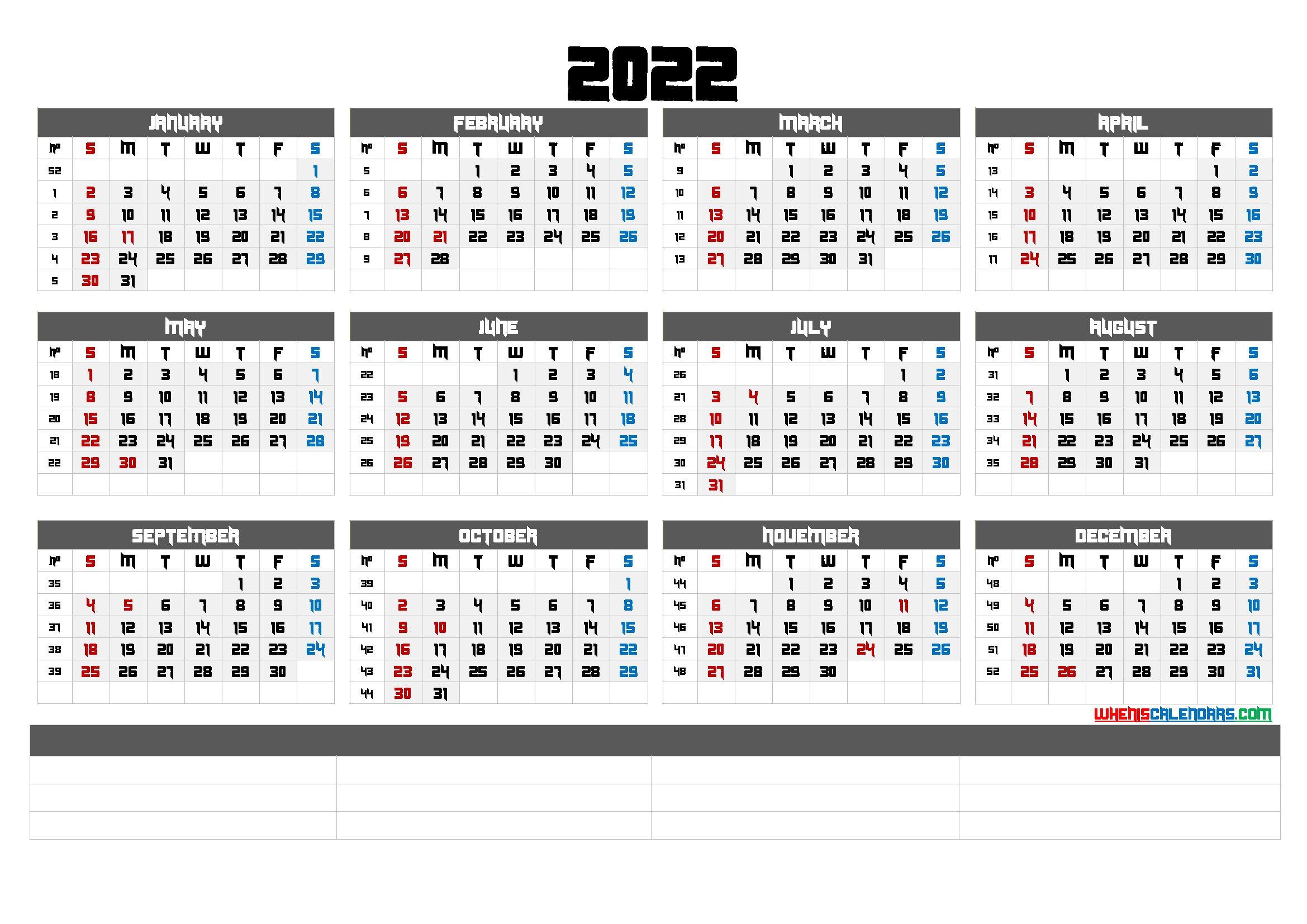 Downloadable 2022 Monthly Calendar (6 Templates) with regard to Free Printable 2022 September Calendar