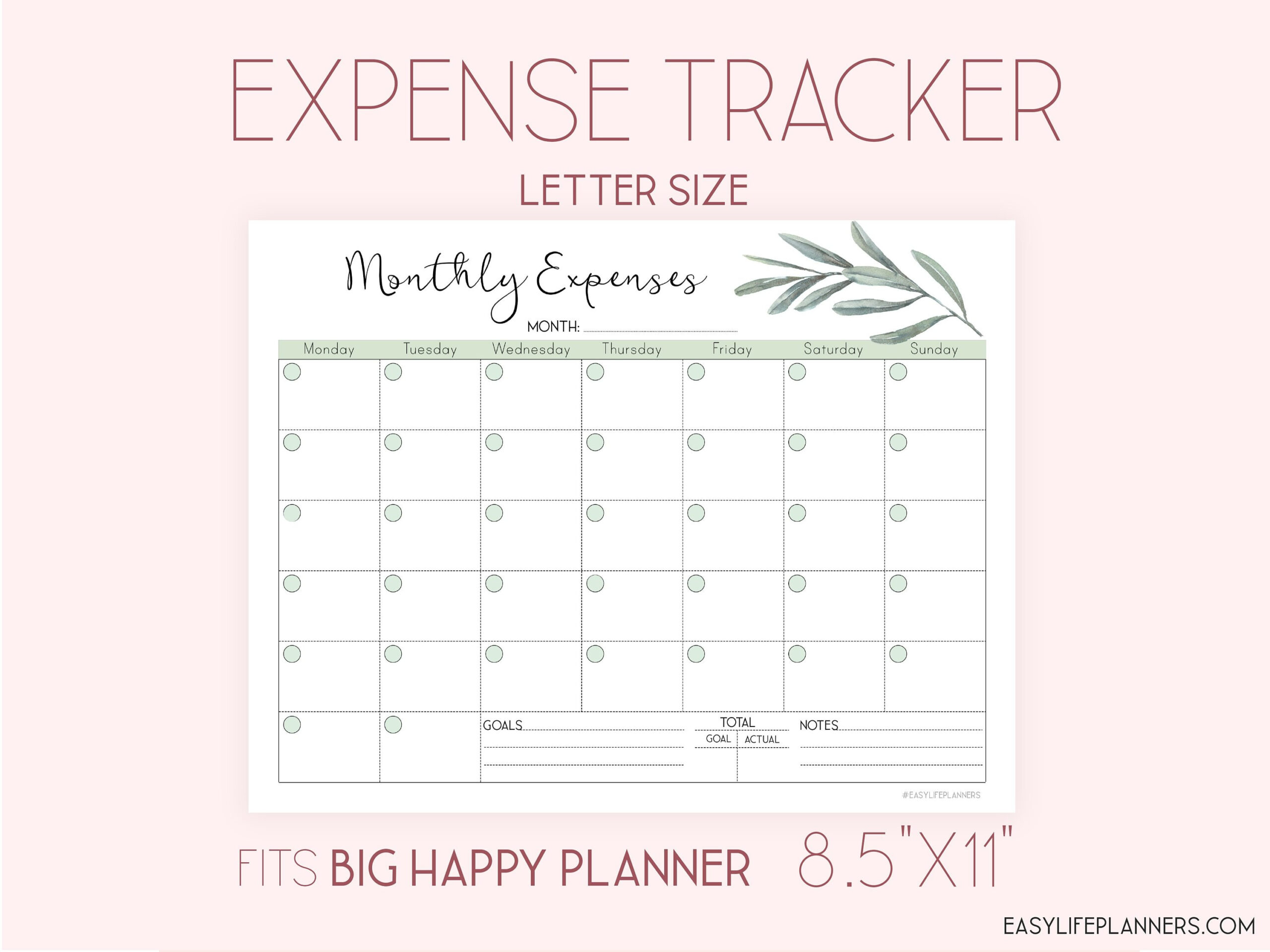 Expense Tracker, Monthly Budget Planner Printable, Finance inside Simple Budgeting Planner Insert