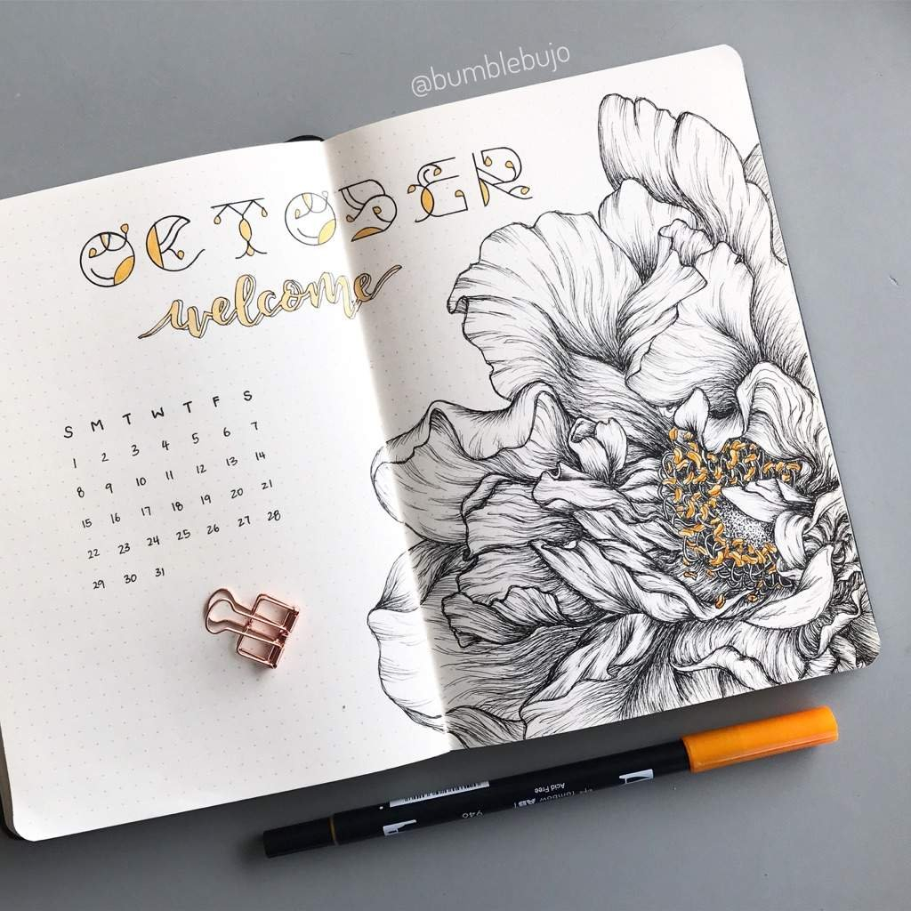 Fall Themed Bullet Journal Cover Pages - Sheena Of The Journal in Printable Bullet Journal April Cover Page Image