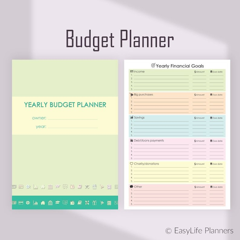 Financial Planner Monthly Budget Planner A4 Binder Inserts for Simple Budgeting Planner Insert Image