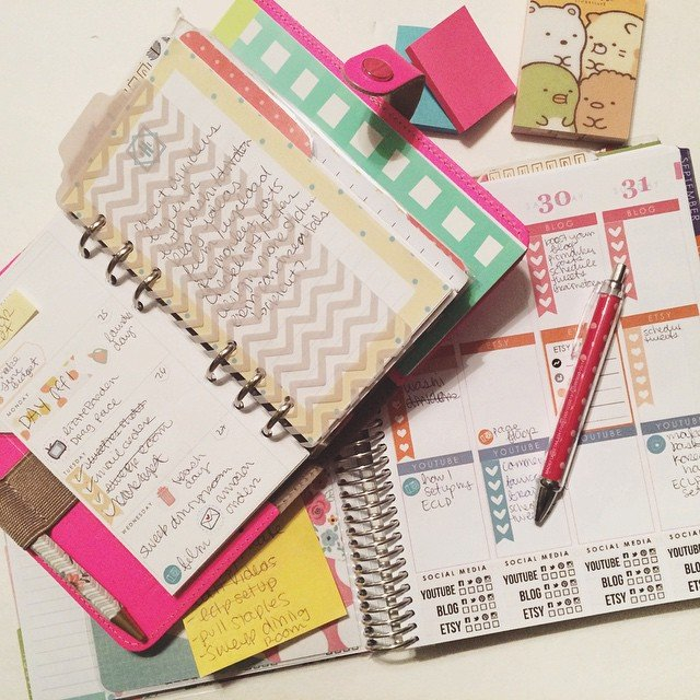 Five Sixteenths Blog: My Planner Journey // How I Use with regard to Where Can I Print My Own Planner Graphics