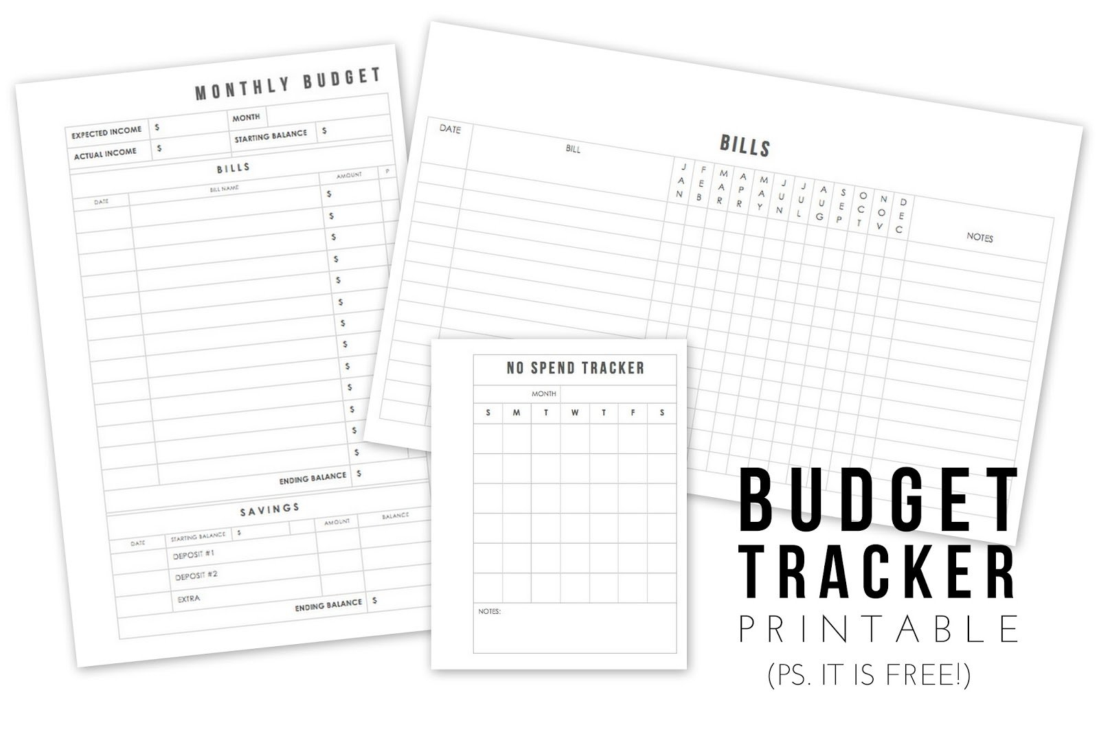 Five Sixteenths Blog: No Spend November // Free Budgeting for Simple Budgeting Planner Insert Image