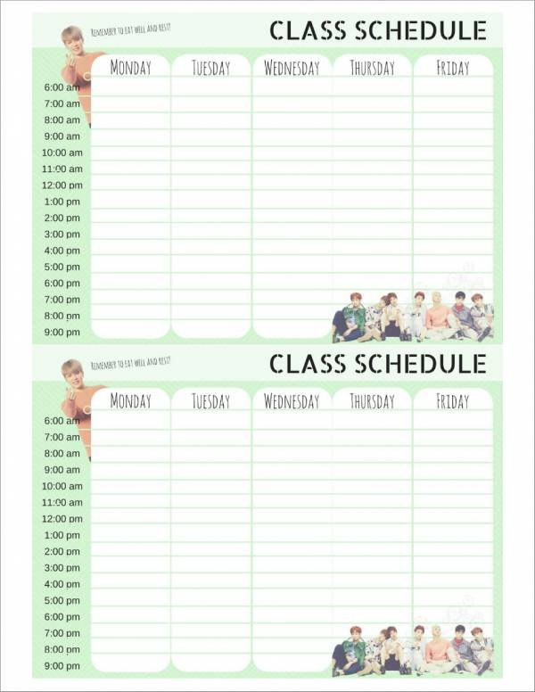 Free 18+ Weekly Planner Samples & Templates In Excel | Pdf with regard to Free Weekly Planner Template Photo