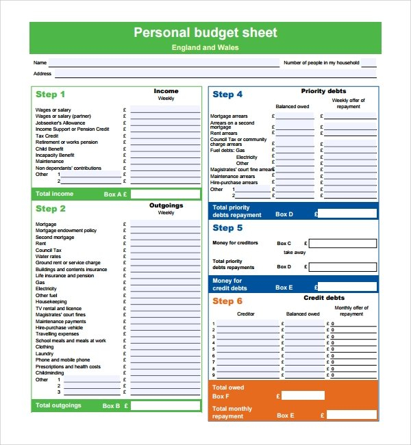 Free 9+ Sample Budget Planner Templates In Pdf | Excel with Budget Planner Pdf Download Free Photo