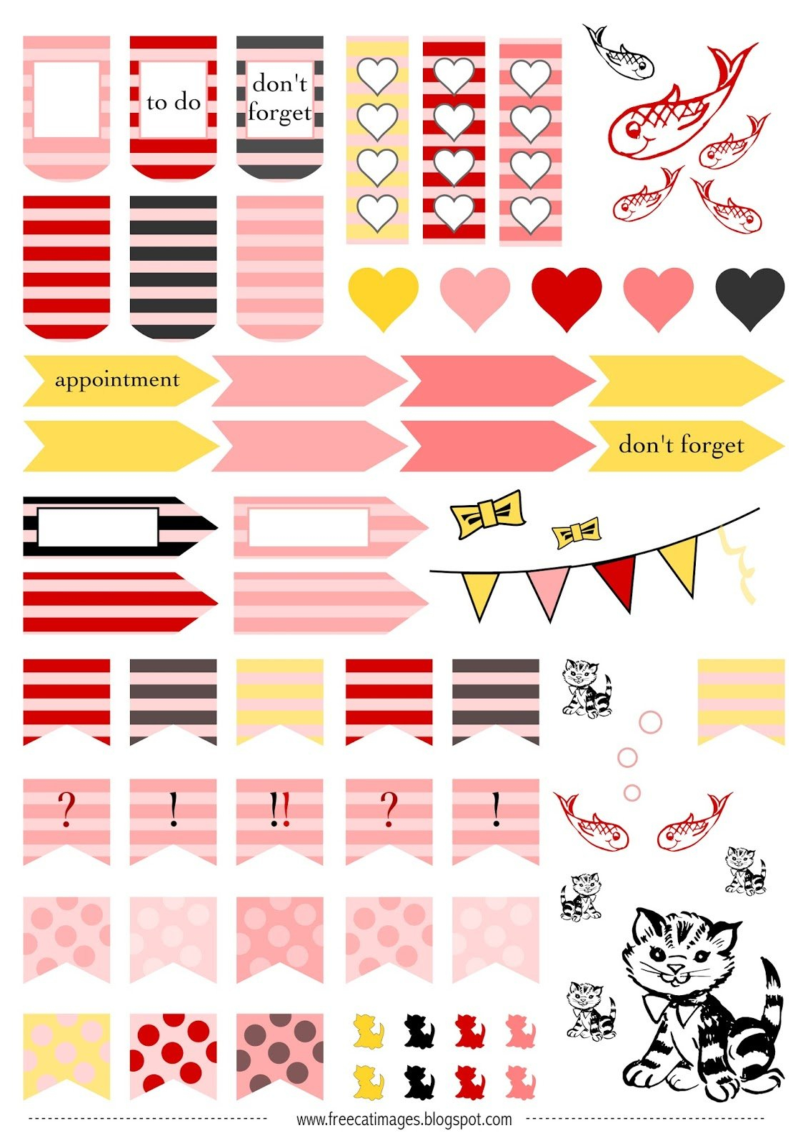 Free Cat Images: Free Printable Planner Stickers - Cats within Free Happy Planner Stickers Printable