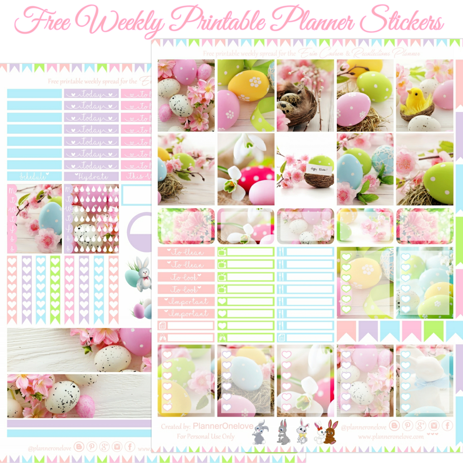 Free Happy Easter Printable Planner Stickers For The Erin inside Free Happy Planner Stickers Printable Graphics
