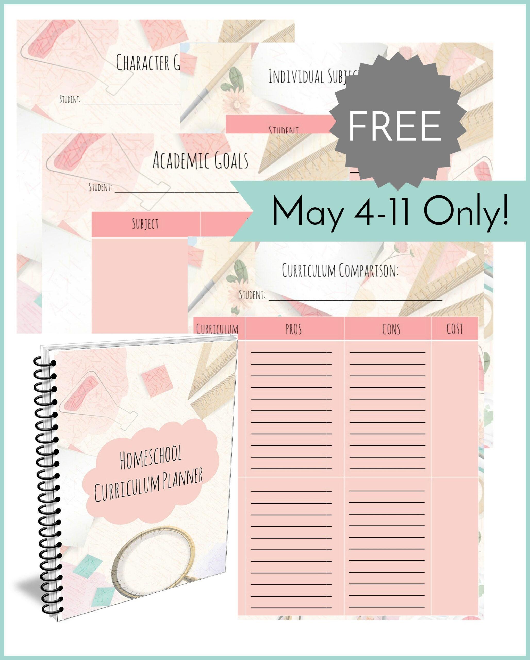 Free Homeschool Curriculum Planner   Free Homeschool Deals with regard to Free Printable Artist Planner Worksheet Image