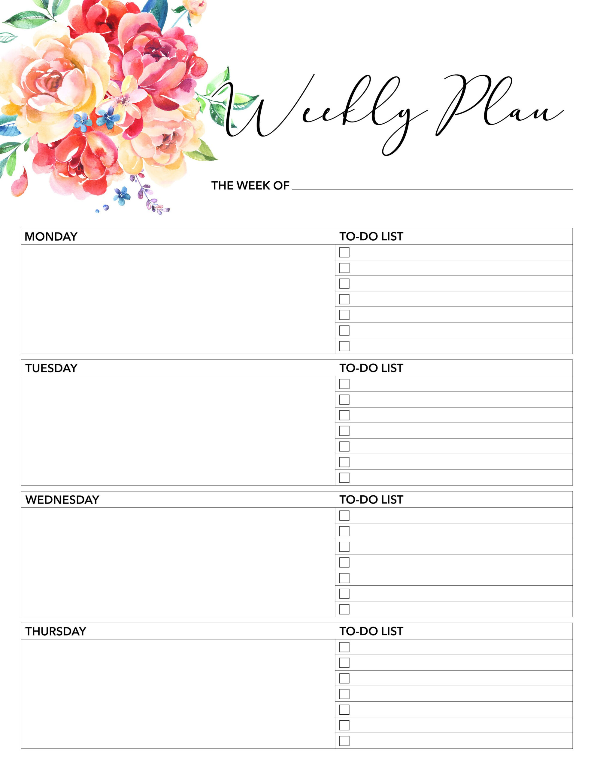 Free Printable 2018 Planner 50 Plus Printable Pages - The with regard to Free Printable Monthly Planners