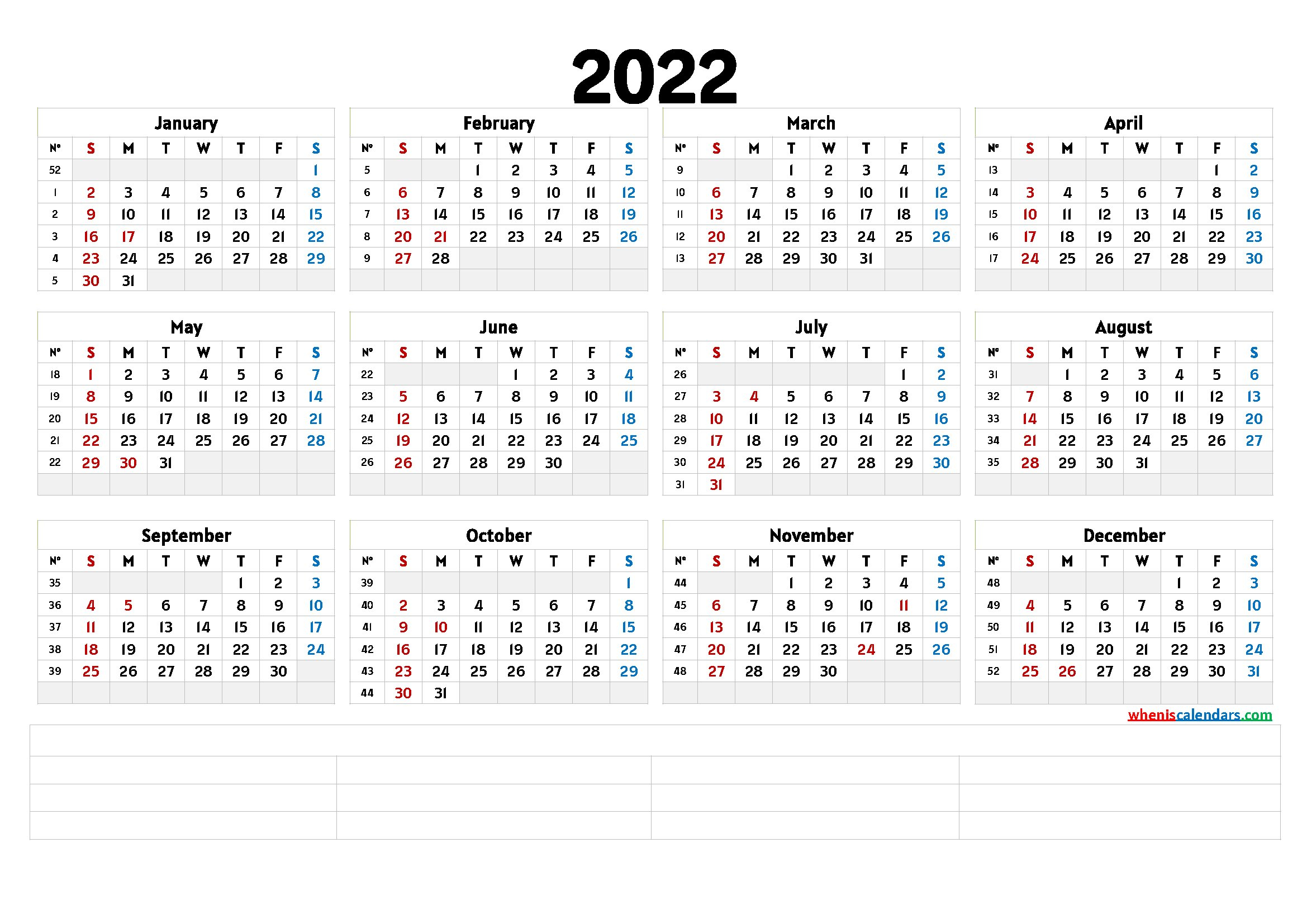 Free Printable 2022 Calendar Templates - Calendraex pertaining to Printable Day Planner 2022 Image