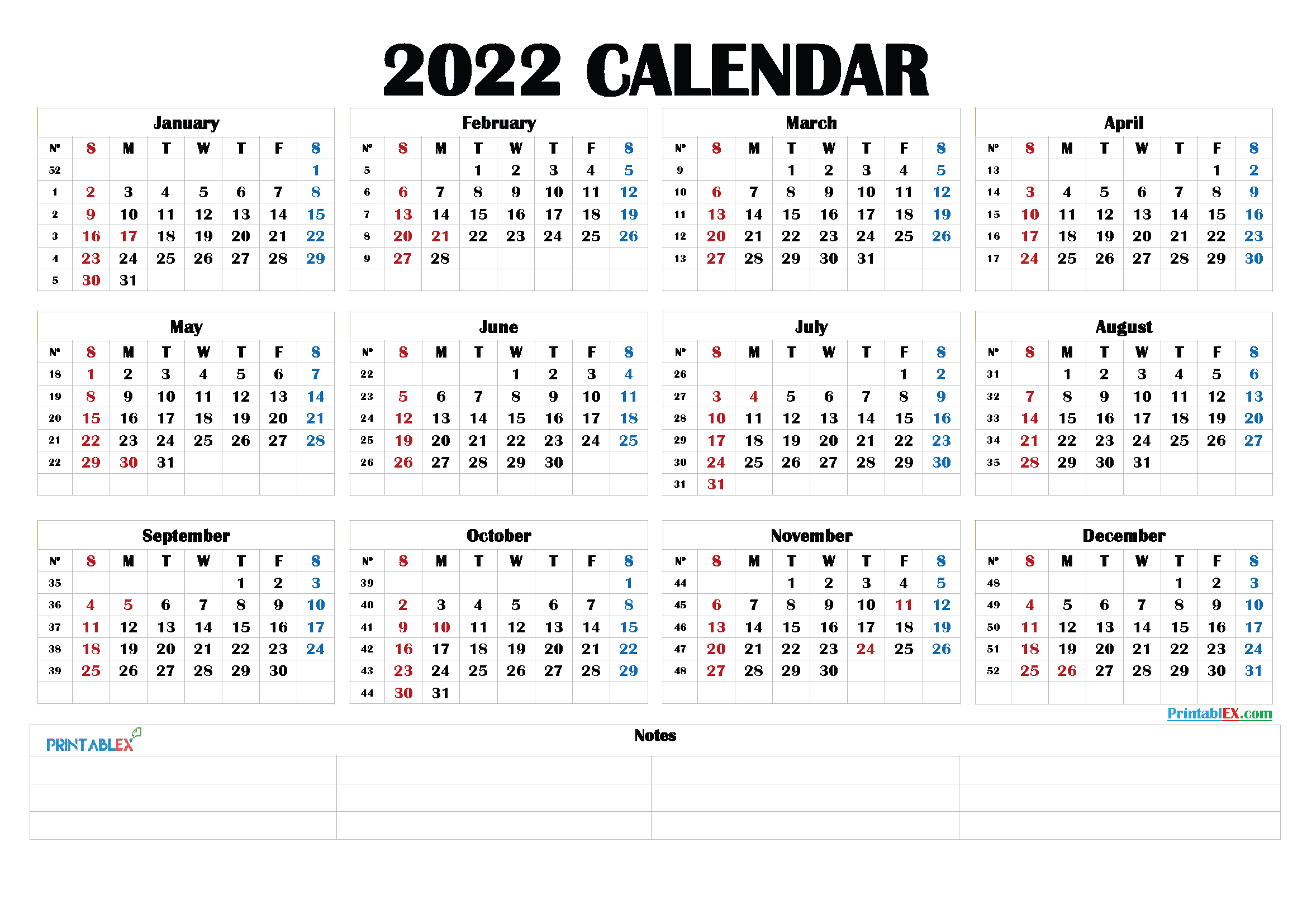 Free Printable 2022 Calendarmonth - 22Ytw190 within Printable Monthly Planner Pages 2022 Photo