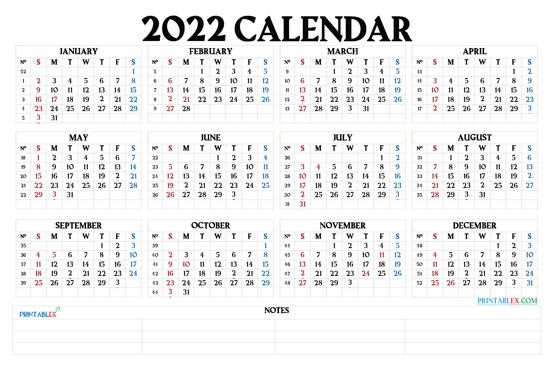 Free Printable 2022 Calendarmonth - 22Ytw64 throughout Free Monthly Planner 2022