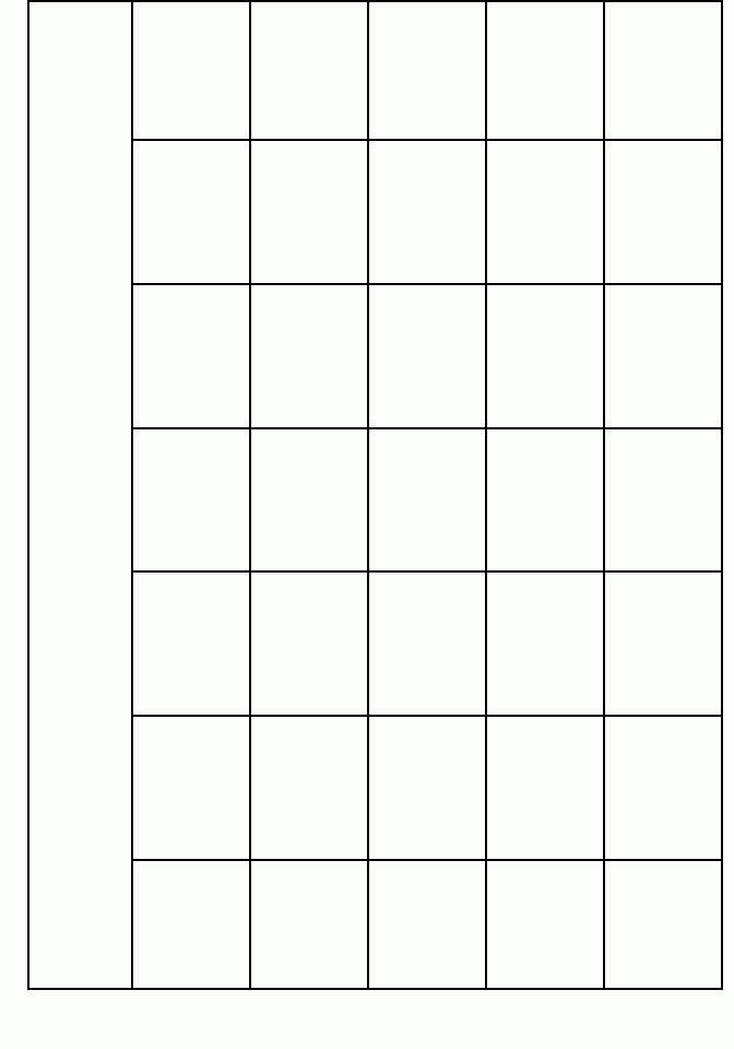 Free Printable Blank Calendar Template 3 | Printable Blank for Blank Month Planner Template Graphics