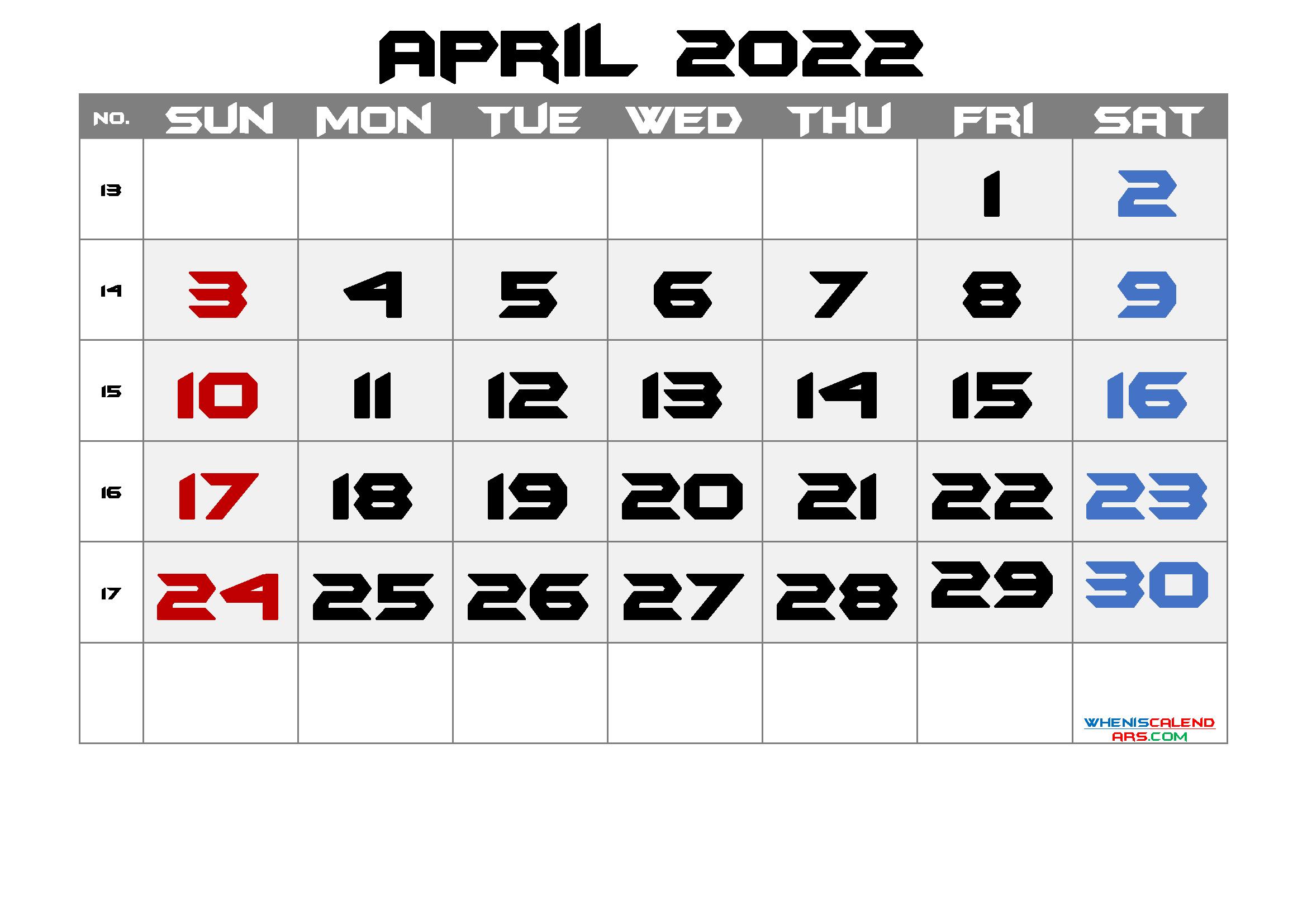 Free Printable Calendar April 2021 2022 And 2023 And More inside April Monthly Calendar 2022 Free Printable Photo