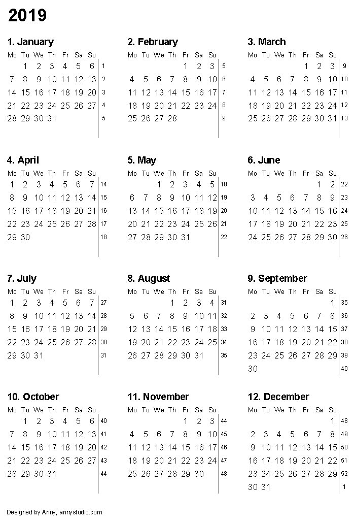 Free Printable Calendars And Planners 2019, 2020, 2021 intended for 2022 Lifestyle Planner Calendar