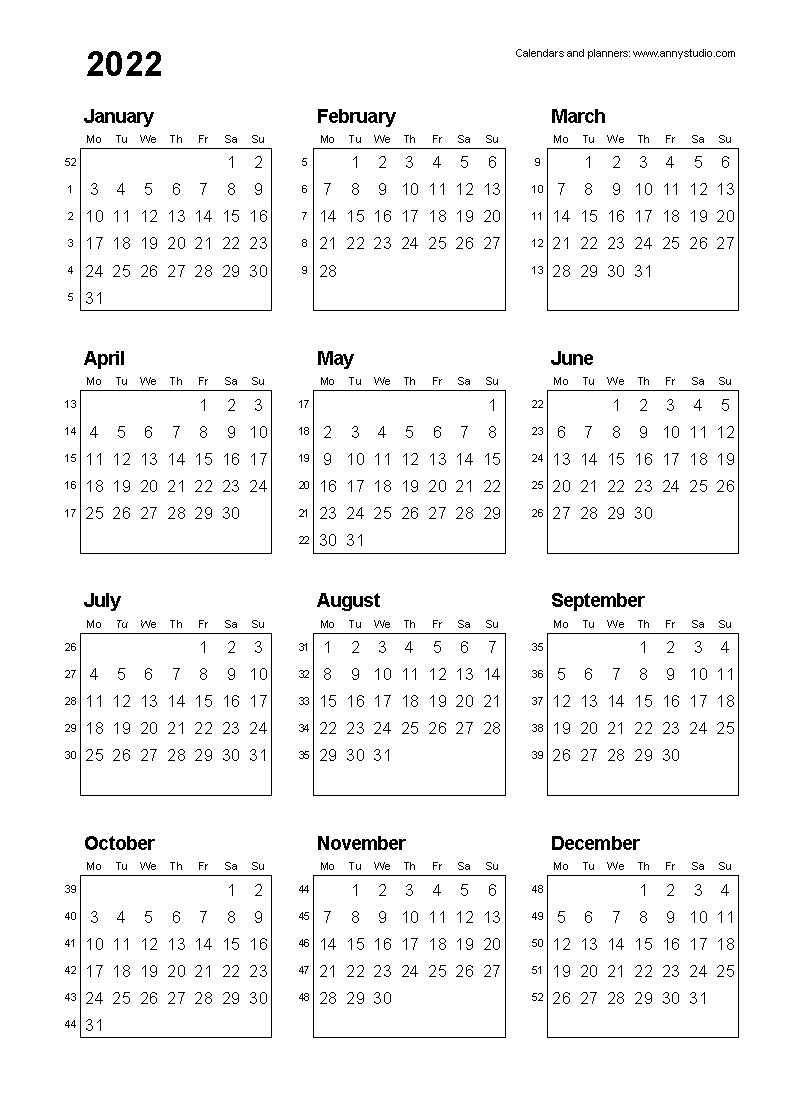 Free Printable Calendars And Planners 2022, 2023 And 2024 for Free Daily Planner Printables 2022