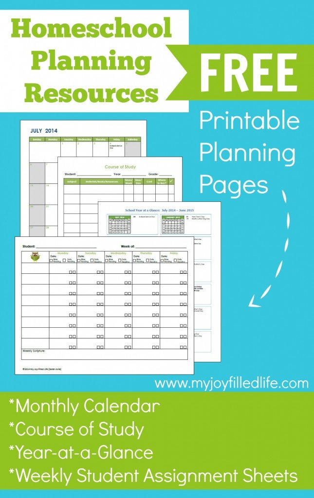Free Printable Homeschool Planning Pages regarding Planner Pages Template Free Photo