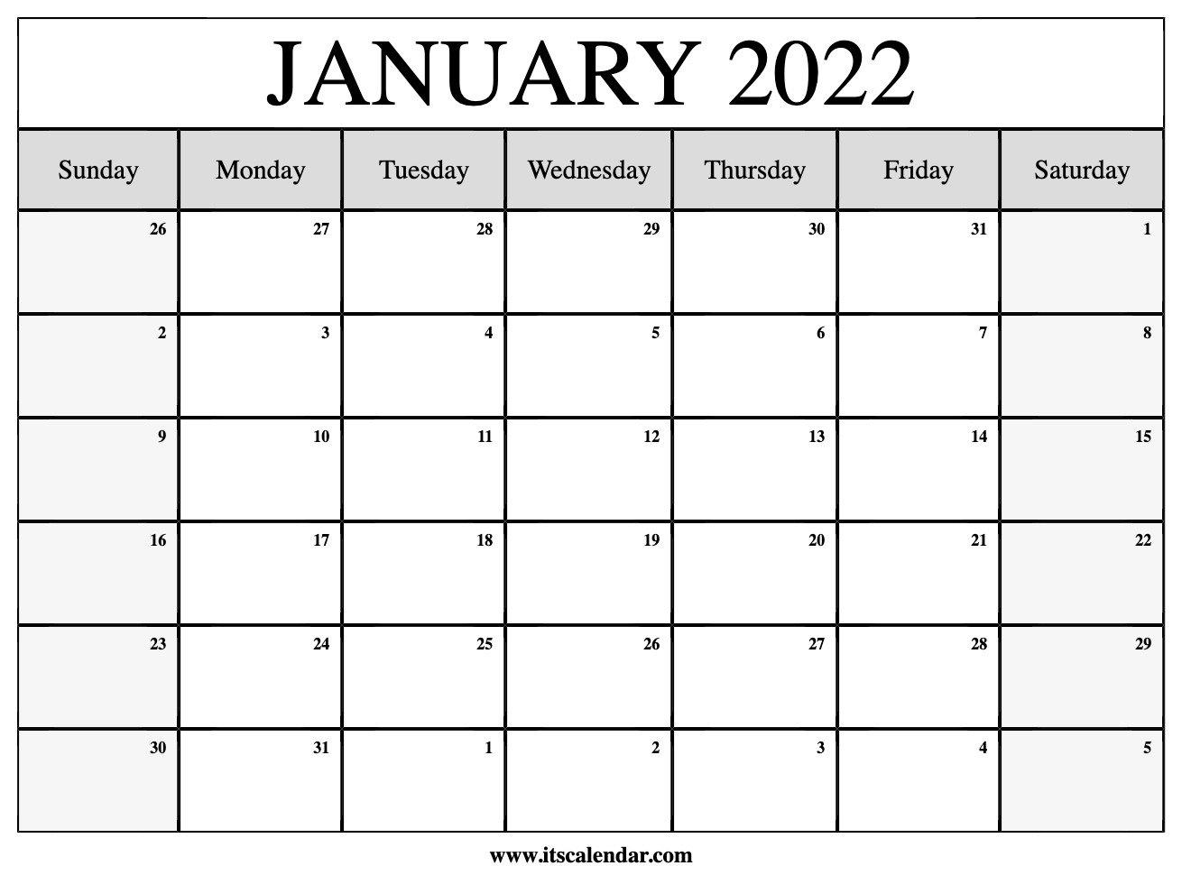 Free Printable January 2022 Calendar inside March April May 2022 Calendar Printable