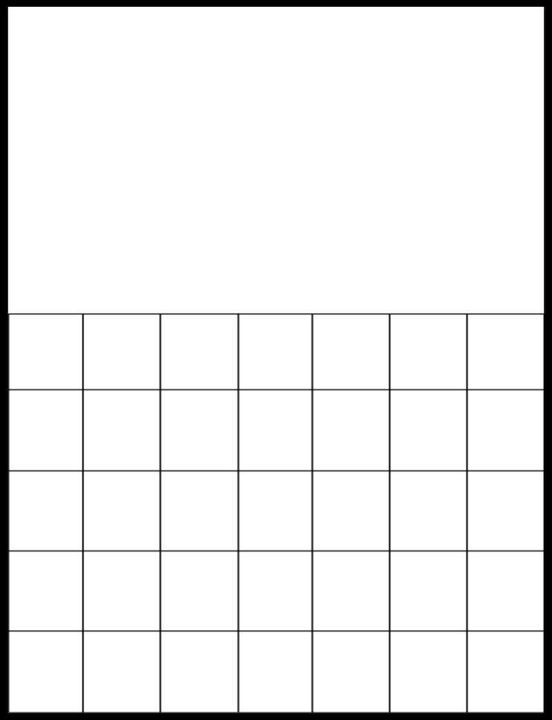 Free Printable Large Grid Calendar   Ten Free Printable within Weekly Planner Grid Free Printable Image