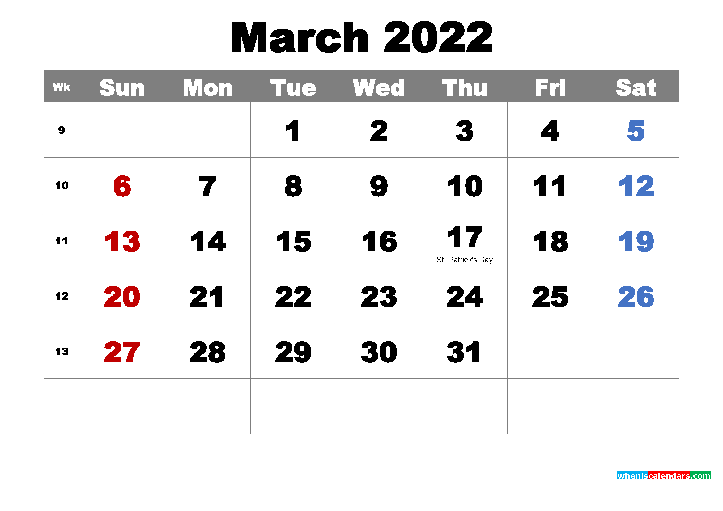 Free Printable March 2022 Calendar With Holidays As Word, Pdf intended for March April 2022 Printable Calendar