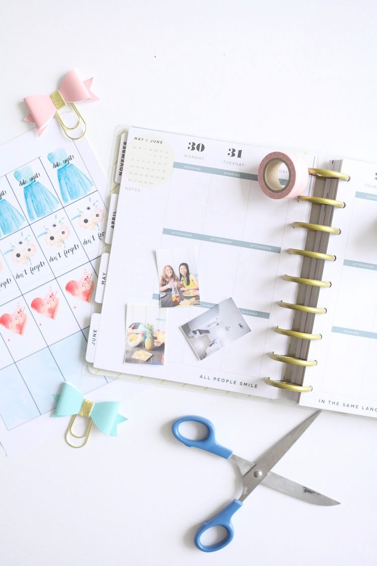 Free Printable Planner Stickers - Run To Radiance for How To Design And Print A Planner