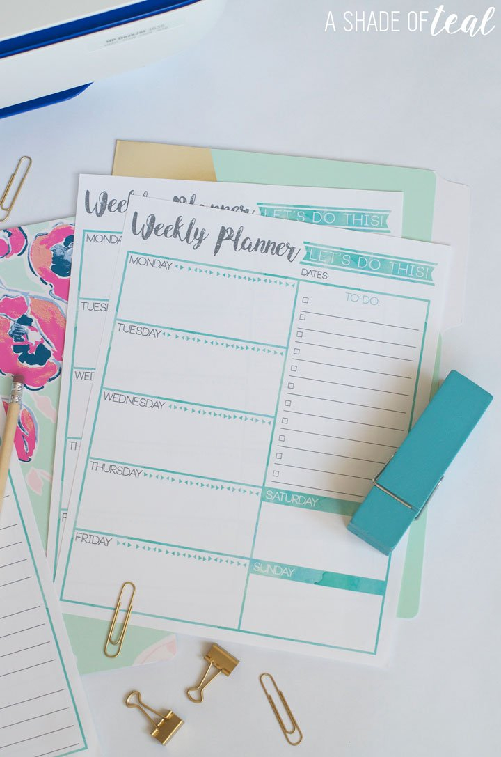Free Weekly Planner & Goal'S Printable with regard to Free Printable Weekly Planner