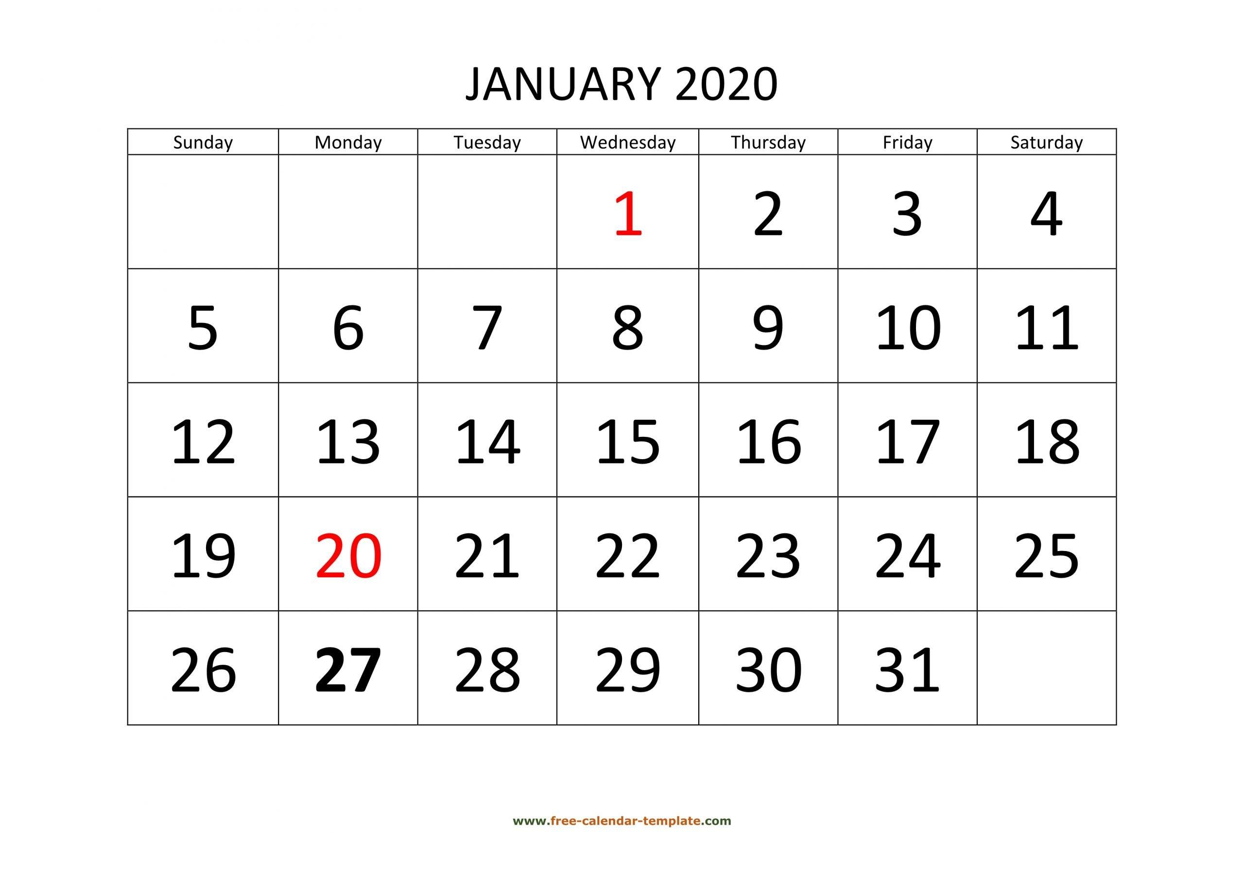 Get 2020 Printable Calendar Full Page 2 December 2020 in Free Printable December January Calendar Graphics